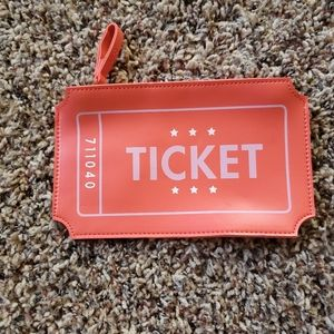 Ticket Makeup Bag